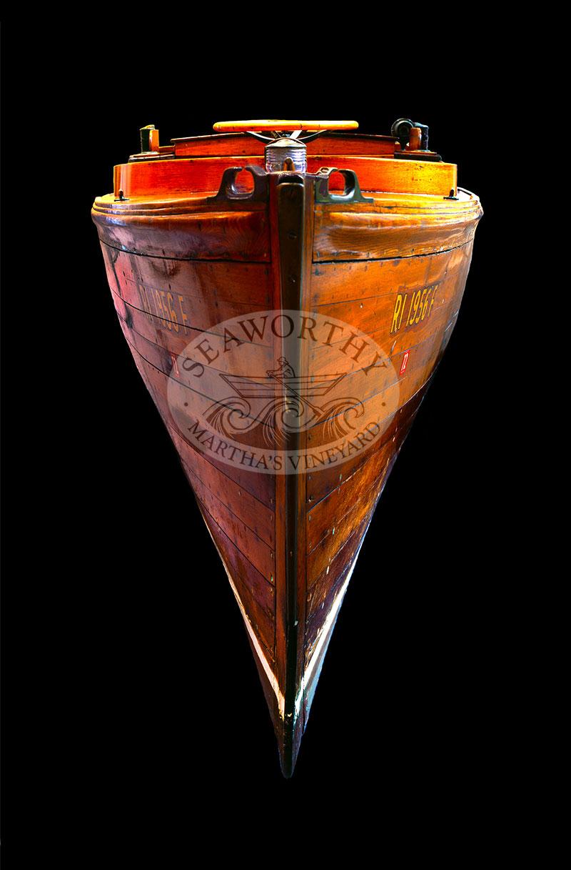 Herreshoff 2-40 Wooden Boat Art Print by Jeffrey Serusa