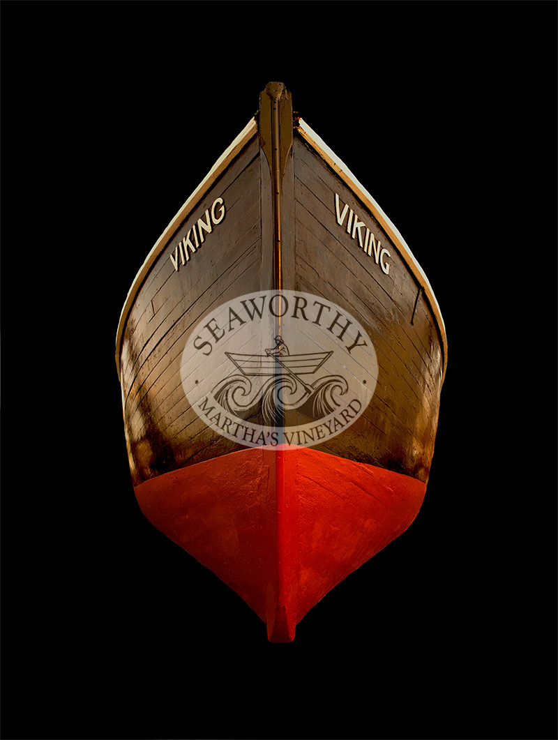 Art Print Wooden Boat Viking of Marthas Vineyard