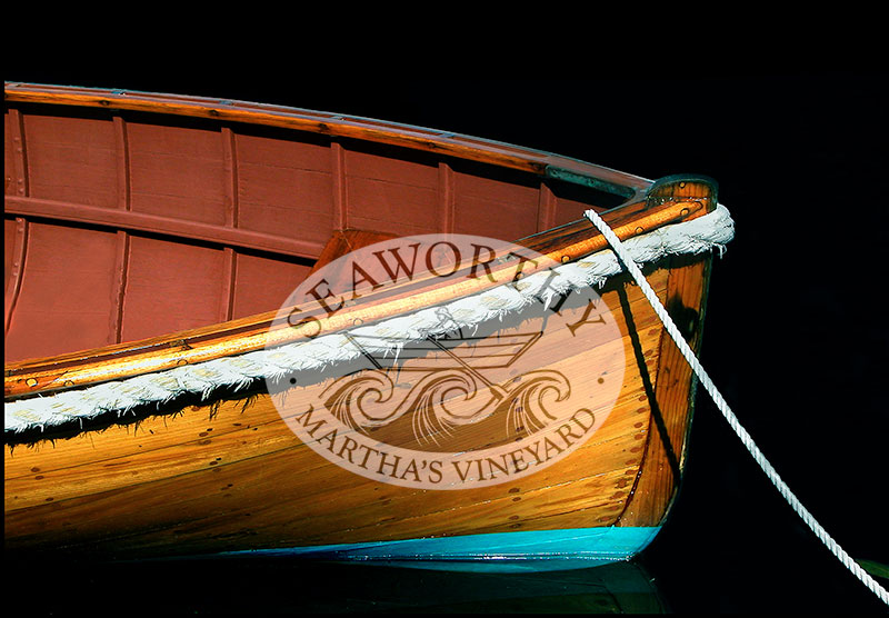 Art Print Wooden Boat Sarah of Marthas Vineyard