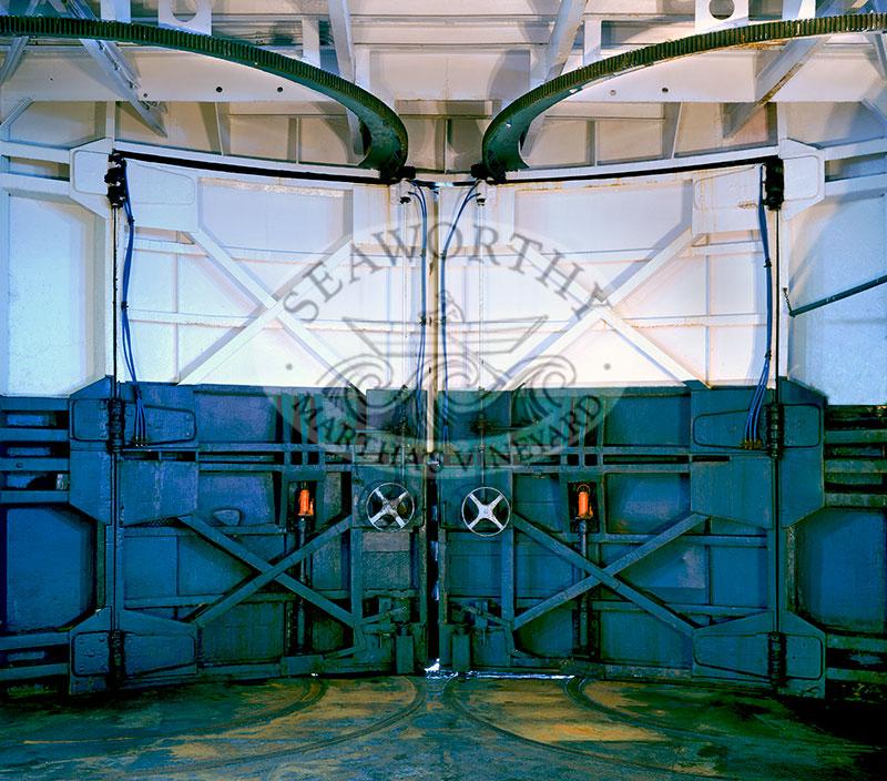 MV Islander Ferry Boat Doors inside