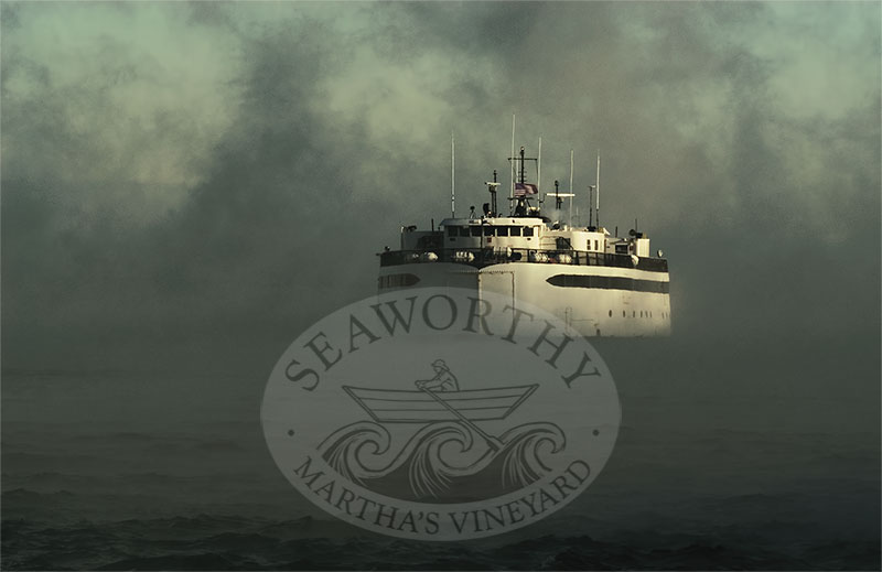 SeaSmoke Marthas Vineyard Art Print