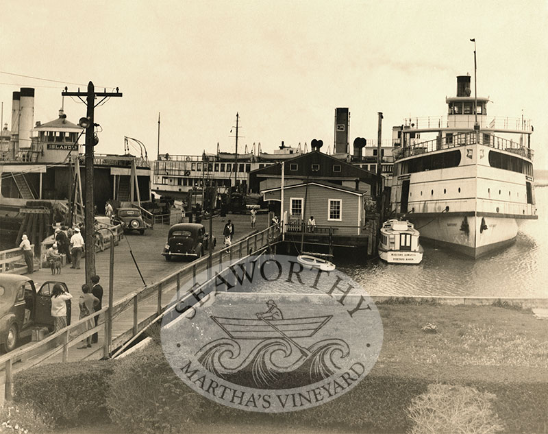 Vineyard Haven Steamships 1947 Fine Art Matte Paper Print