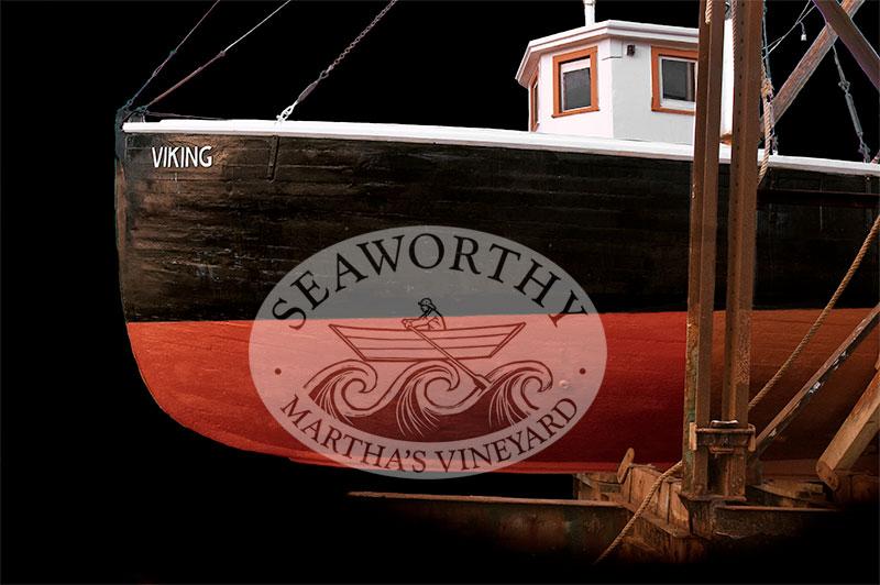Wooden Boat Viking Profile Art Print